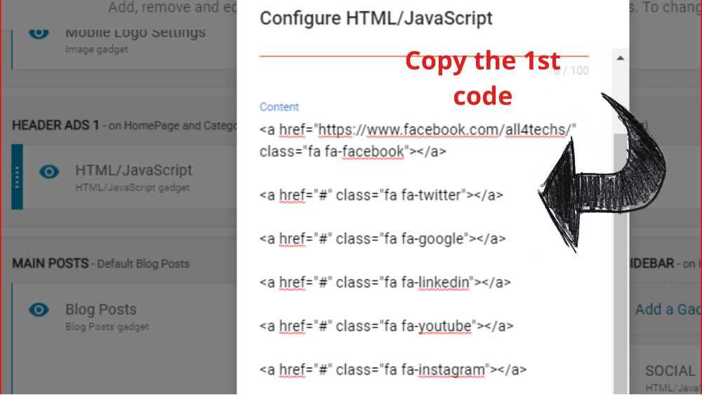 the-html-code-for-social-media-icons