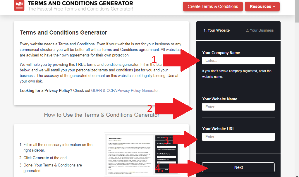 how-to-add-terms-and-conditions-on-blogger